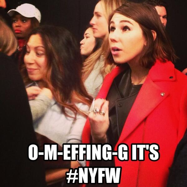 Guess which @girlsHBO star we spotted at #NYFW... http://t.co/wfWy1330MH