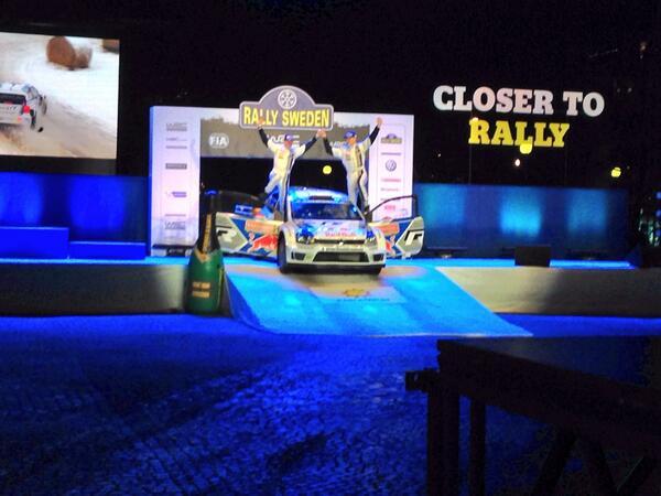 The winner of #RallySweden 2014 @JariMattiWRC in Karlstad http://t.co/cq0Sb5mGK6