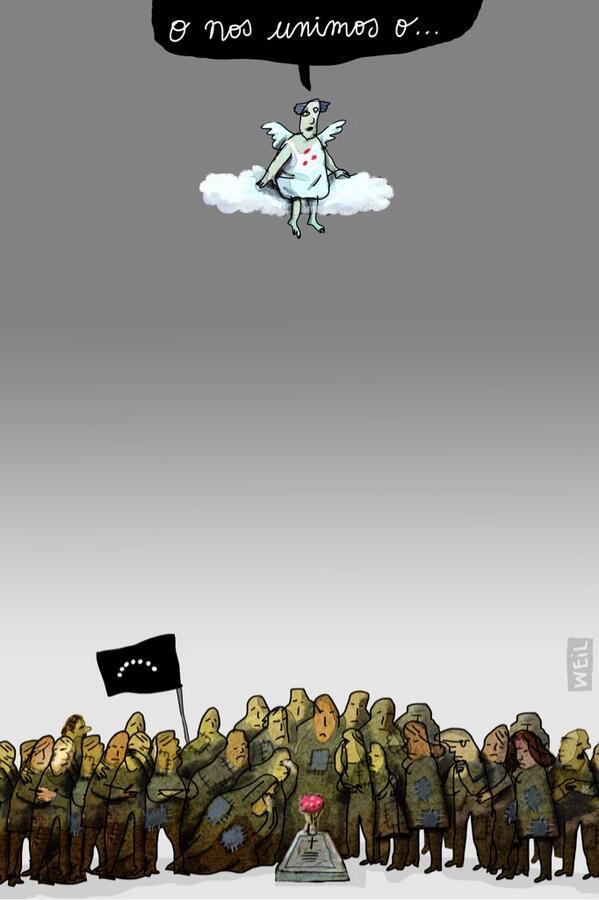 """O nos unimos, o ..."" Asi es. ~ RT @WEIL_caricatura ... Unidos contra la tiranía ... http://t.co/jOLVk0vDi8"