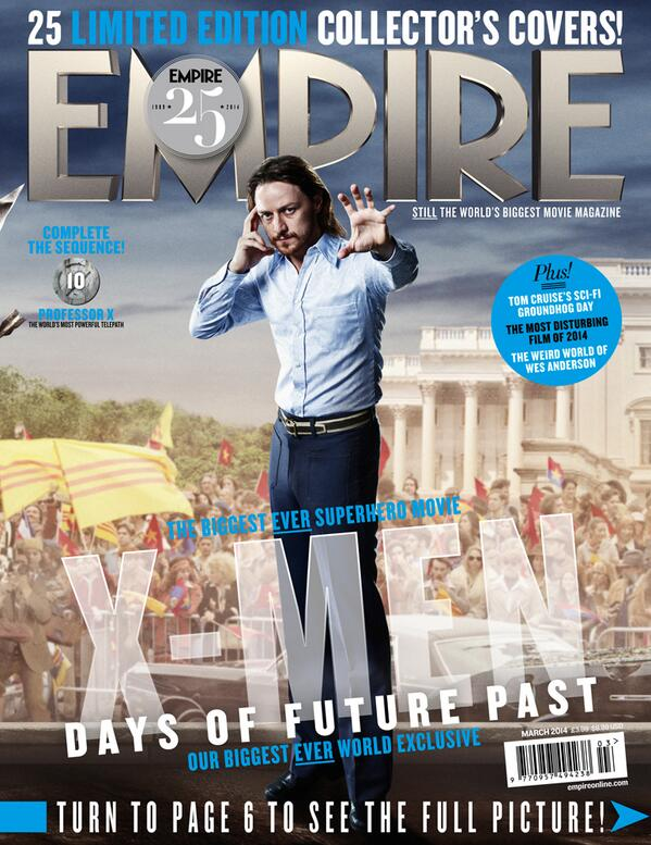 Benevolent telepath & future leader of mutants. James McAvoy is young Charles Xavier in this #Empire25 cover. #XMen http://t.co/MHcQs7e5qP