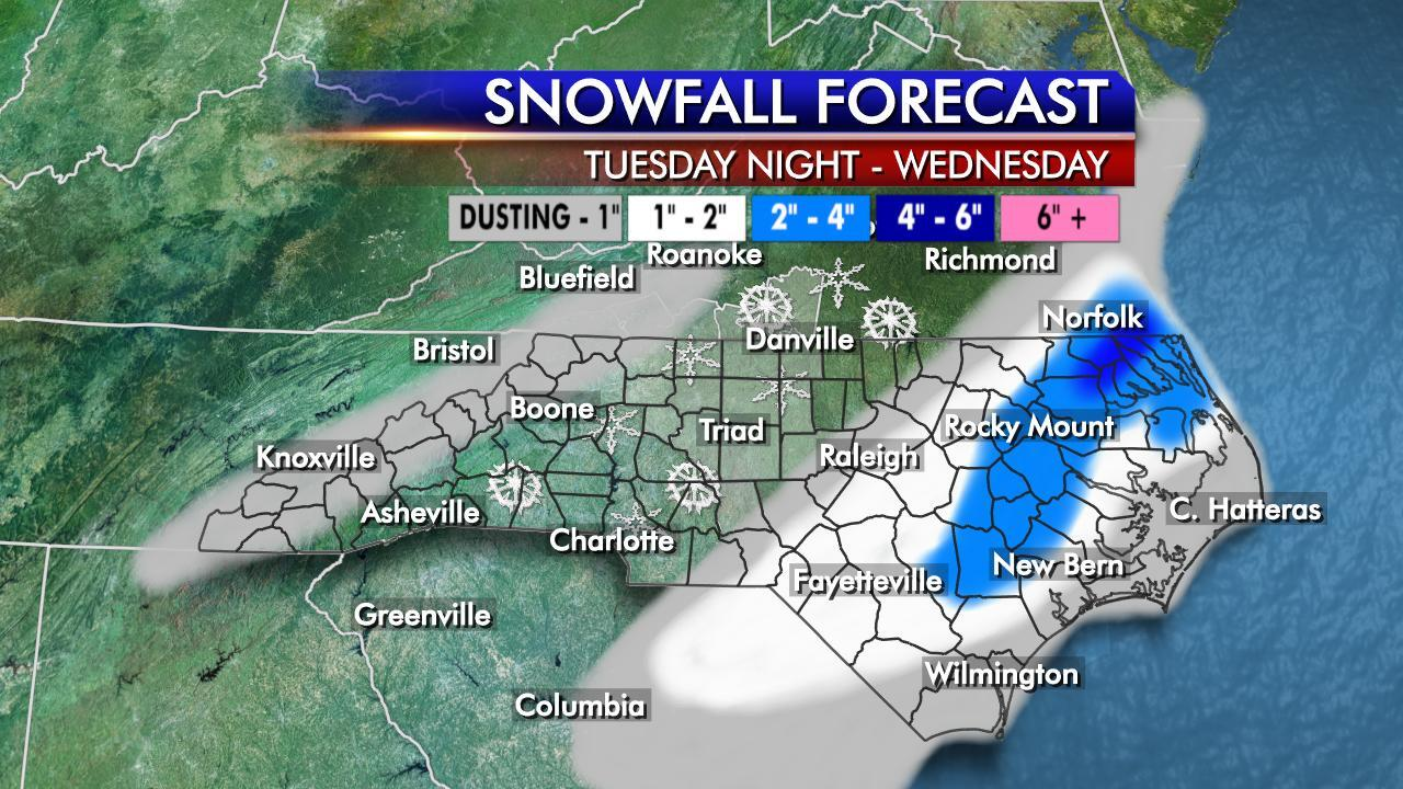 Updated snowfall forecast for NC: http://t.co/dPhCeZ4Hie