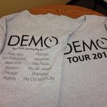 We even have T-shirts! #DEMOTour http://t.co/HmsH2KL9B8 http://t.co/ZnlDPm5Ezp
