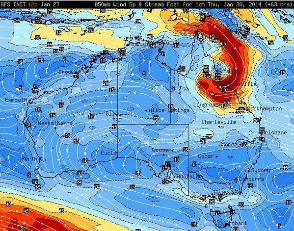 What a difference 24 hours makes. Forecast models suggest a coastal crossing of #TCDylan near Cairns on Thursday. http://t.co/lDRviVcncp