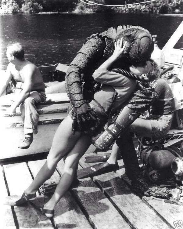 The Creature from the Black Lagoon putting the moves on. http://t.co/ssBbKIVUzo