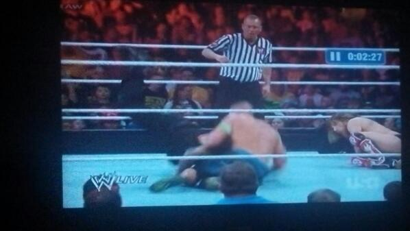 "@VirtuosoSports @BruceBlitz this is how Cena landed/""bumped"" the spear . That's amazingly retarded http://t.co/J34RdYkKag"