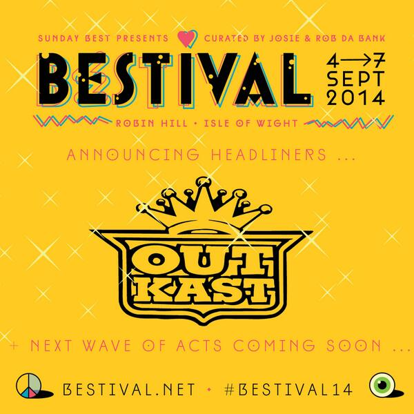 Hey y'all! It's @OutKast for #Bestival14!! http://t.co/m4wUq83lN2 http://t.co/wHQKNoosIw