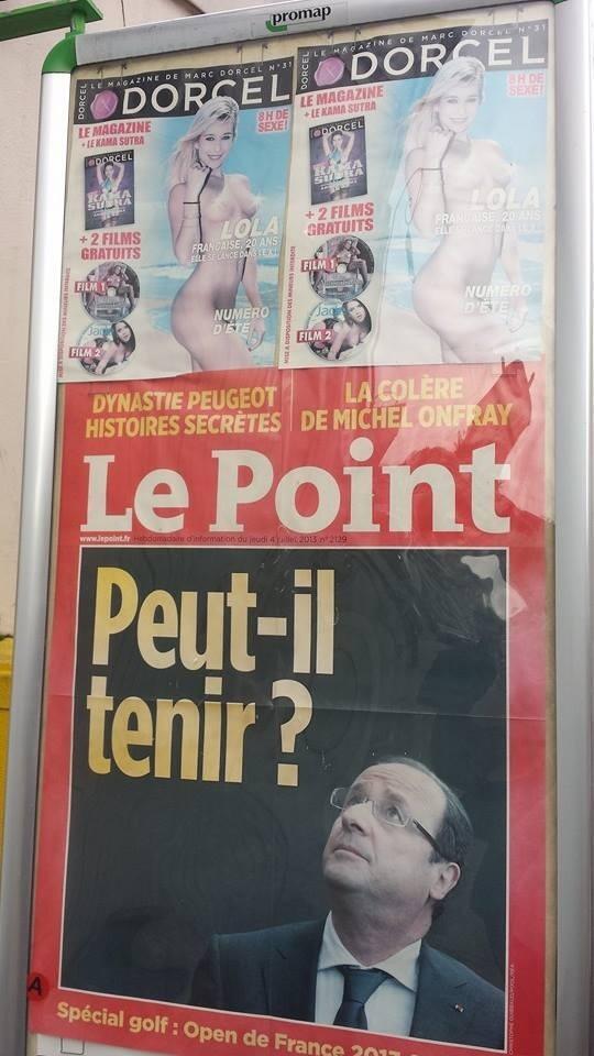 François Hollande et la joie des kiosques RT @dorcel Peut-il tenir face à @lola_reve ? http://t.co/3m2OX7WVtH
