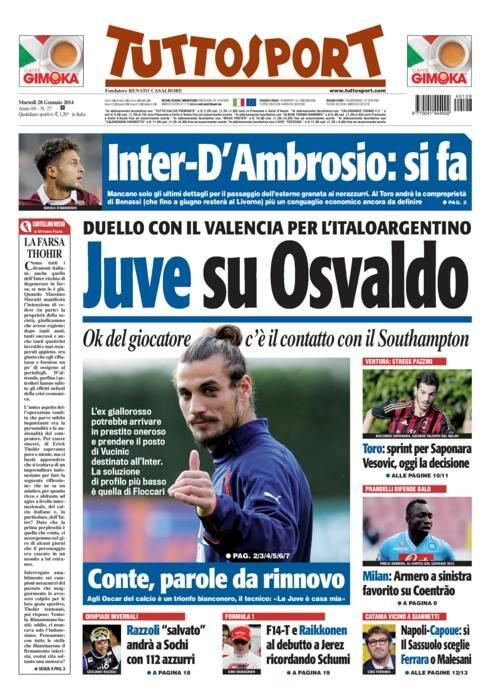 BfDmrRZCEAE63VE Juventus & Valencia are battling it out for Southampton bad boy striker Osvaldo [Superdeporte & Tuttosport]