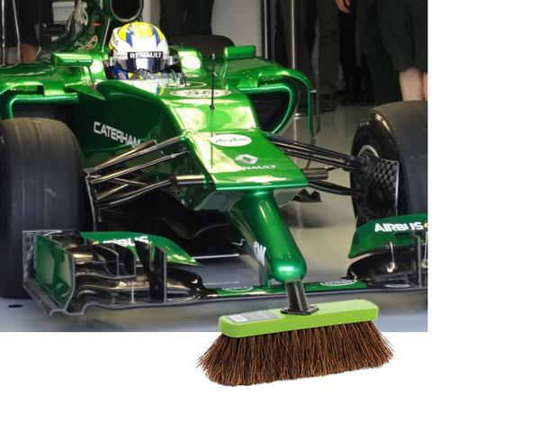 Someone has made a cruel modification to my pic of the Caterham nose... #tracksweeper http://t.co/mKKa35fvcY