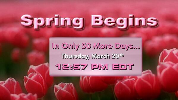 Here are some warm thoughts on this cold winter's day...spring is only 50 days away! :) http://t.co/XAIw8F2IuC