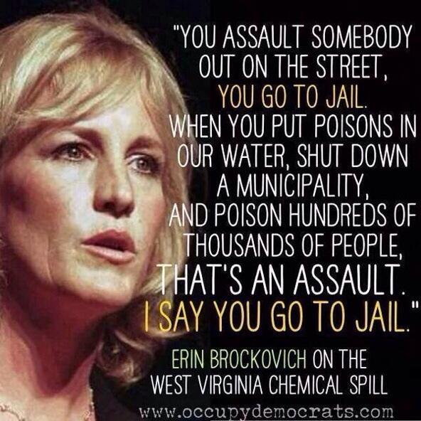 """@seekerwisdom8: ""@randyprine Erin Brochovich on the WVA water fiasco http://t.co/zboRHt7dST"