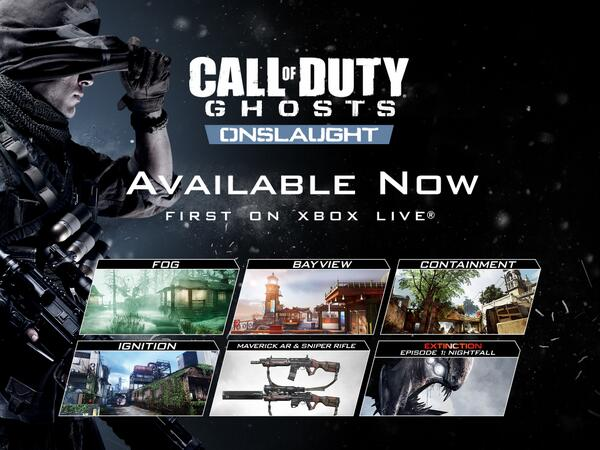 #Onslaught the new @CallofDuty DLC is available now! #CODGhosts http://t.co/EK7I5JVOwl
