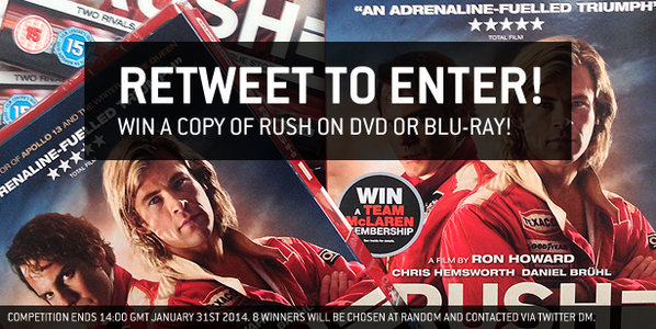 COMPETITION: RT for a chance to win a copy of @RushMovieUK! http://t.co/rvBRaNl49d