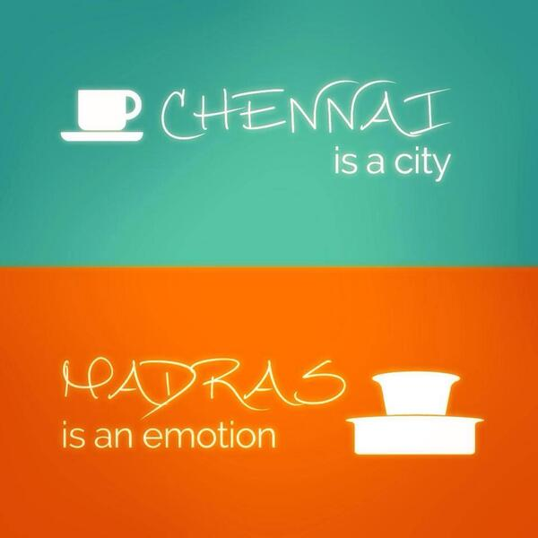 #Chennai is a City. #Madras is an Emotion. A brilliant pic http://t.co/YuXWfTBUyx