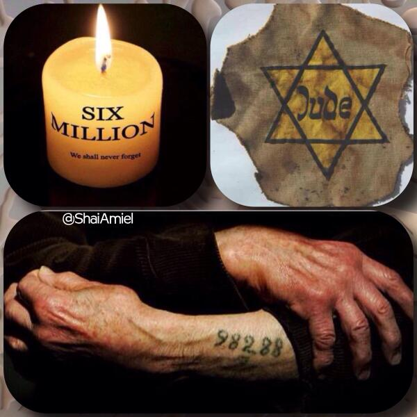 Today is national Holocaust Remembrance Day in honor of the 6 million innocent Jews that died. http://t.co/KwLGyHrBb7