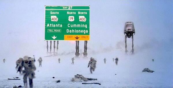 What it's really like on Atlanta's interstates right now. #atlweather #atlsnow http://t.co/N94hN9GiJv