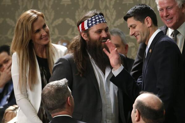 The problem with the GOP rebrand in one picture RT@thinkprogress: Duck Dynasty's Willie Robertson + Paul Ryan http://t.co/0IrpNAb0Yp