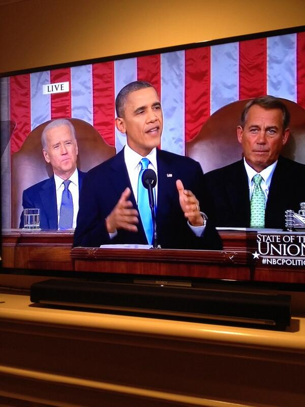 A space alien tuning into the #SOTU would conclude that humans come in three shades: brown, white, & orange http://t.co/bpkjYkApd0