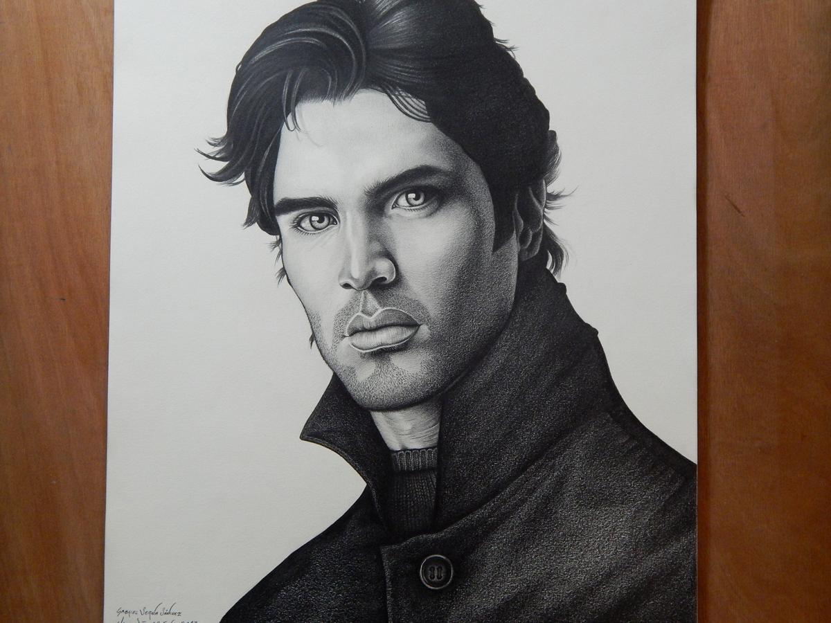 Una foto más. Dibujo a lápiz de Eduardo Verástegui @EVerastegui http://t.co/r61ybDpzY9