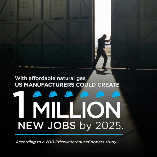 """.@BarackObama: """"One of the biggest factors in bringing more #jobs back is our commitment to American #energy"""" http://t.co/6L7Px38KNi"""
