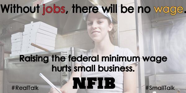 #POTUS says raising #minimumwage helps jobs? @NFIB research says it's job killer http://t.co/r0zKM128xX #SOTU http://t.co/15L3yRJymf