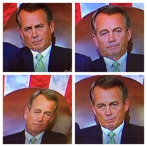 The pain and agony of Speaker Boehner in just a 5 minute stretch of #SOTU http://t.co/A1vRvv9FGp