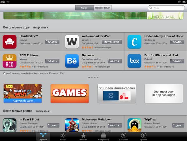 Leuk! We staan met onze iPad app als beste nieuwkomer in de App Store Download 'm nu: http://t.co/nlo6pg1E2G. http://t.co/ewdYgMMvTR