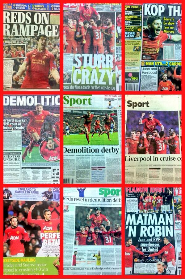 Demolition Derby. This morning's backpages http://t.co/uGDxcto6vz