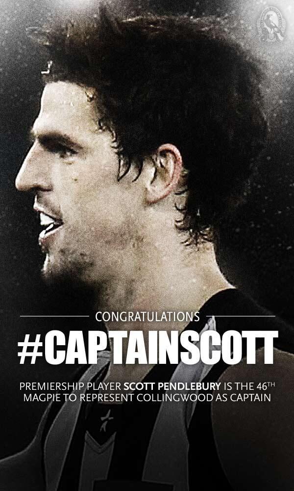 It's official: the captain of the @CollingwoodFC for 2014 is @SP_10! #captainscott http://t.co/9JTBHVSFxc