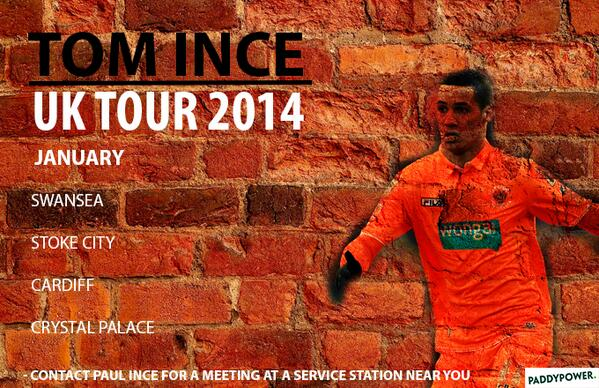 Haha :D @paddypower: Tom Ince, coming to a service station near you... http://t.co/edmmqogkwL