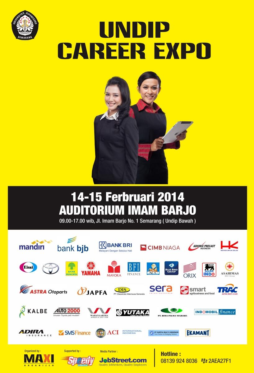 RT @JOBFAIR_COM: @UndipSemarang  UNDIP Career Expo 14-15 Feb'14 http://t.co/QKMfTWhxn5