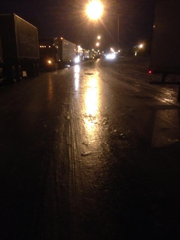 """Crazy @BRedLove: Damn. ""@mattgutmanABC: That is not water on I 85 that is solid ice. #Atlanta http://t.co/gImH9yKltS"""""