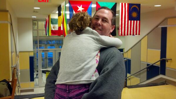 Amazing story: Dad walked 6 miles to sleep with daughter at E. Rivers Elementary @cbsatl @CBSAtlMurphy http://t.co/xHveS7GnmL