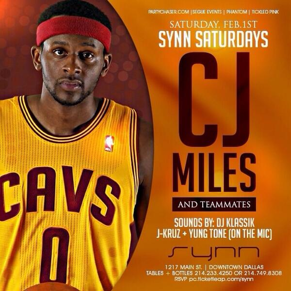 Synn Saturdays ....Cleveland Cavs will be in the building http://t.co/ZhquQkGD5q