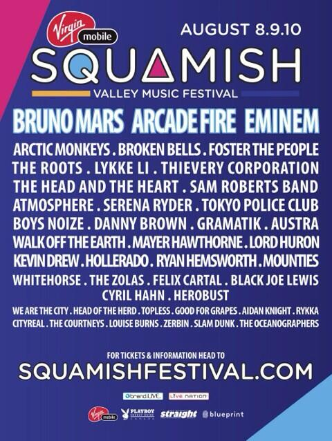 Full lineup for @squamishfest with @arcadefire @fosterthepeople @BrunoMars @ArcticMonkeys @WeAreTheCity @aidanknight http://t.co/PNk5EWeaaU