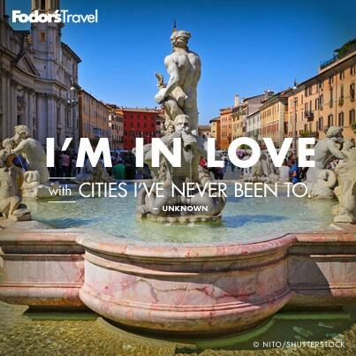 """I'm in love with cities I've never been to."" Unknown #travelquote http://t.co/rwOiXIG3ls"