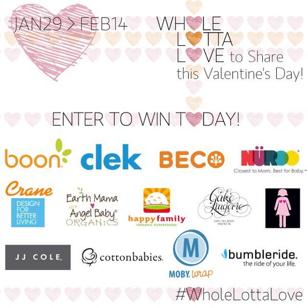 Share the love and win the sweetest #baby gear! #WholeLottaLove Enter here: http://t.co/lEPtNcX962 Retweet! http://t.co/KXreo00kRP