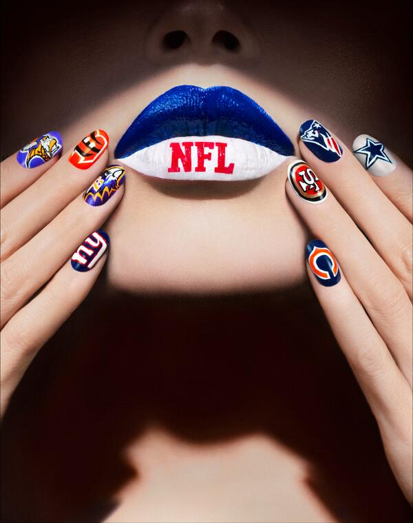 Let's go #Nailgating! Get an #NFL themed Fanicure by @COVERGIRL on Fri 1/31 from12-4pm at 1350 Broadway #DRBigGame http://t.co/KHxfCjJgV1