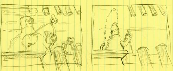 From probably the first sketches I did for The Simpsons title sequence, 1989 -- http://t.co/iEaRrKHTCR