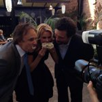 RT @CherylHines: @kevin_nealon @JeremySisto and I having some cake!