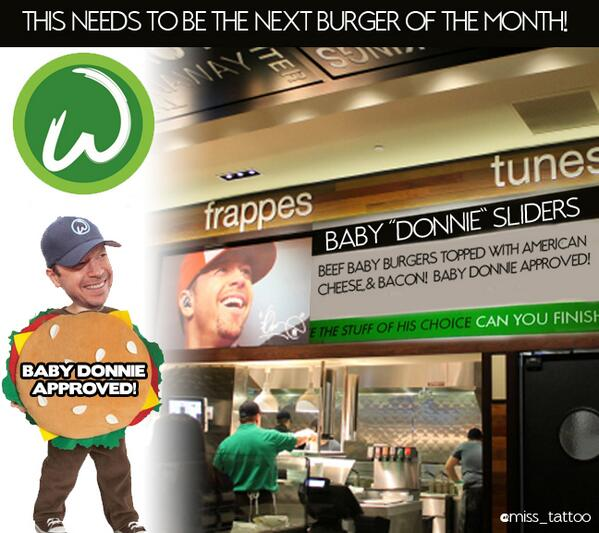had to do it.. dont kill me @DonnieWahlberg !! #BabyDonnie Wahlbuergers special! ;) http://t.co/WRtSMgZT43