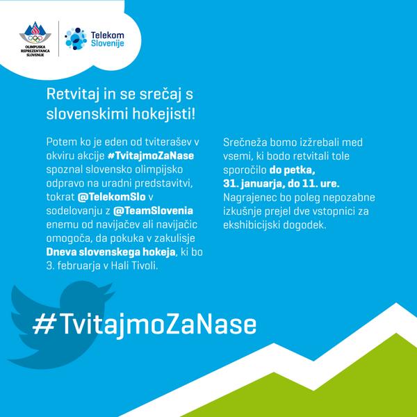 Bi pogledali v zakulisje Dneva slovenskega hokeja & se srečali s hokejisti @TeamSlovenia? Retvitajte! #TvitajmoZaNase http://t.co/sbS838IzU2