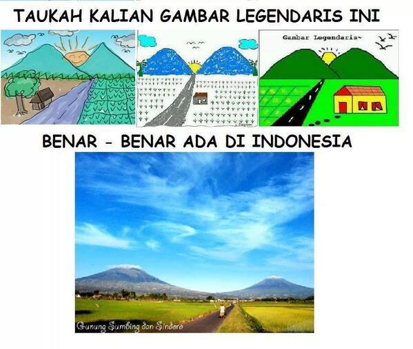 Waktu kecil, sering gambar pemandangan 2 gunung, & jalan di tengahnya. Di Indonesia, benar ada (by Ridi Yusfandrik) http://t.co/IaZ8RVt7pV