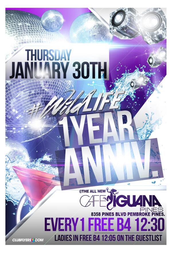 Tonight, catch us at the one year anniversary party of @WildlifeThurs at @CafeIguanas!   http://t.co/4lHSKTYV3E