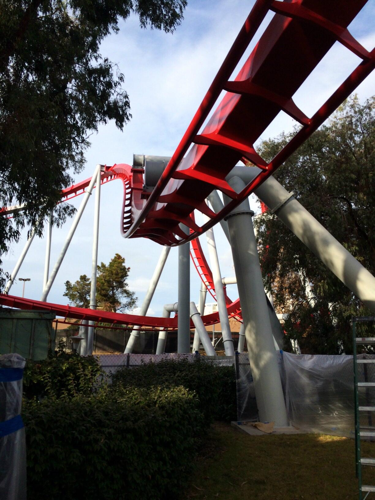 """@CAGreatAmerica: Opening Day is approaching as is the completion of Flight Deck's paint job! http://t.co/uobey6gTKs"" - Looks great...shiny!"