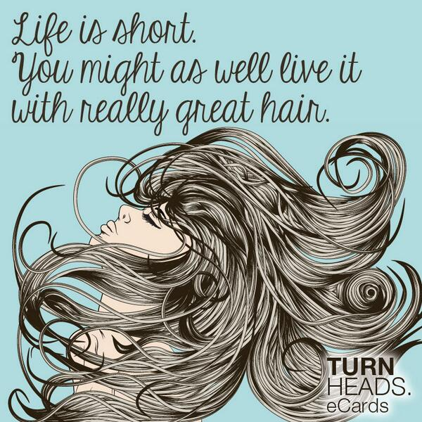 Life is short. You might as well live it with really great hair! #RETWEET if you agree! http://t.co/wxgG6GrubM