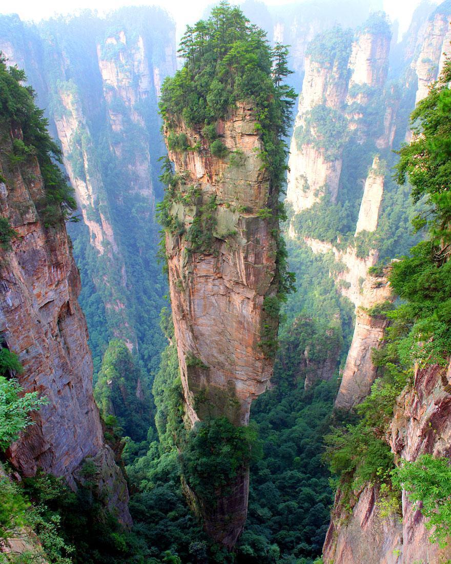 Tianzi Mountains, China http://t.co/sACqiuLqEX