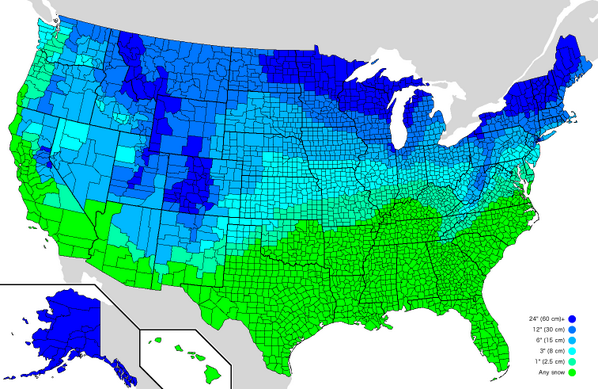Wow! RT @Amazing_Maps: How much snow it typically takes to cancel school in the US http://t.co/4K6OsBD1Ed