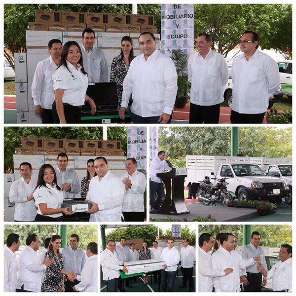 Equipamiento de primera para el #ColegioDeBachilleres #QROO por parte del Gobierno que encabeza @betoborge @JLToledoM http://t.co/Nt7VuEZo2k