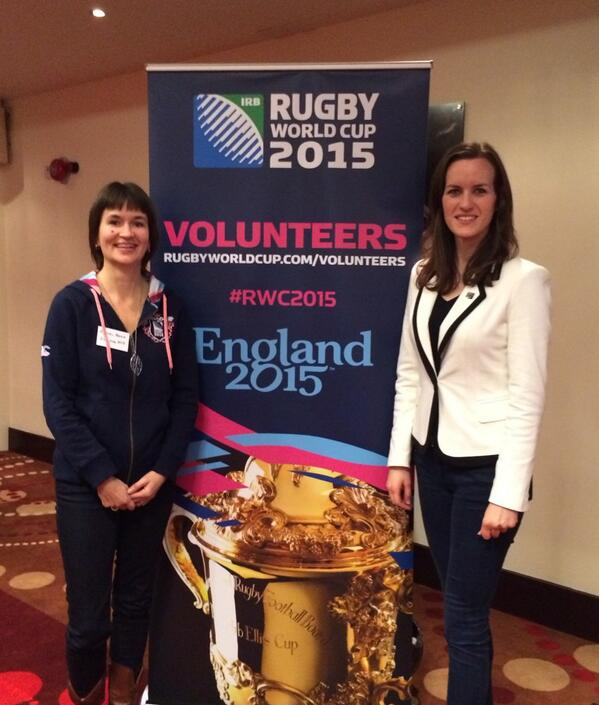 RT @SophieLJMorris: Volunteer Recruitment Programme briefing with Rachel Brace, HR Director of England2015. @EnglandRugby @rugbyworldcup http://t.co/PmGghXF6j6